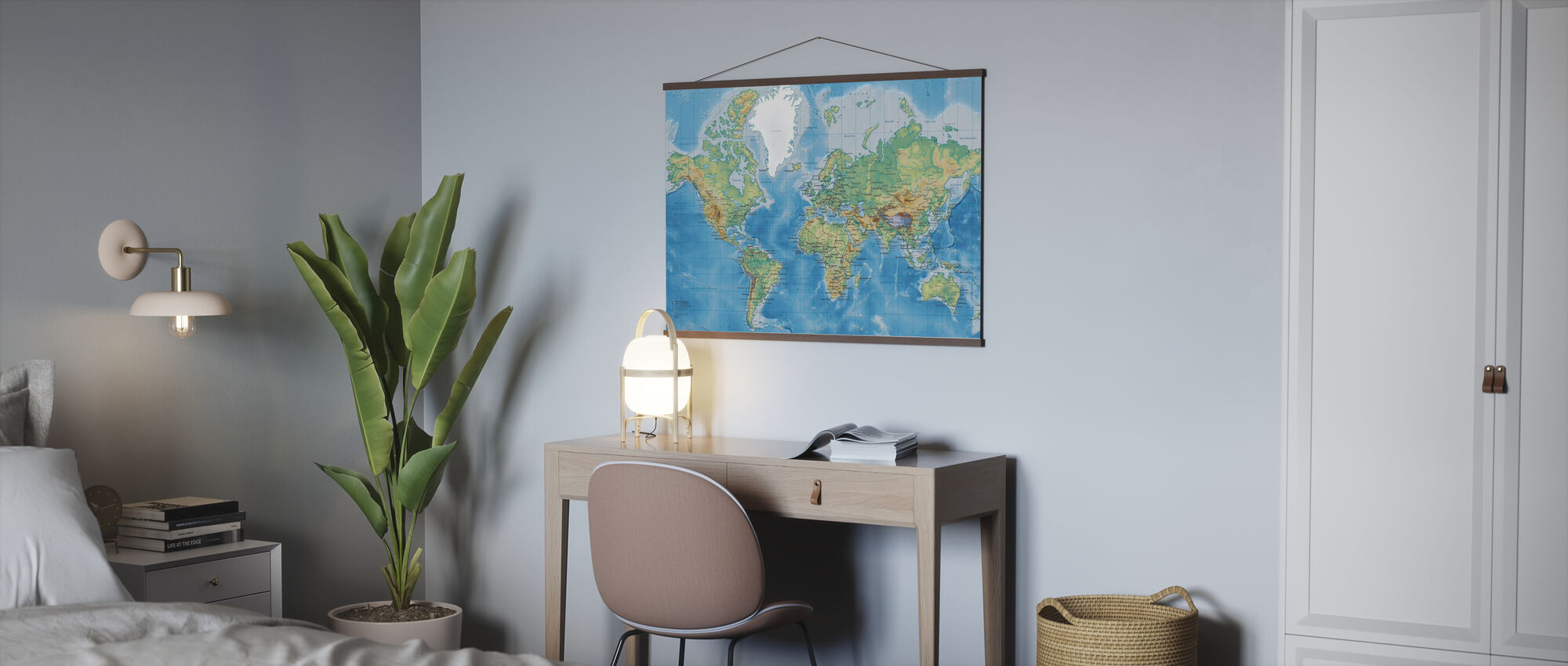 World Map Detailed - Poster - Office