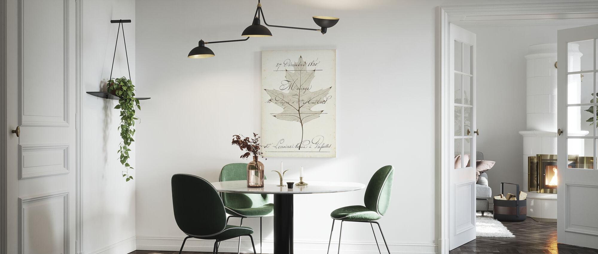 Birch Document - Canvas print - Kitchen