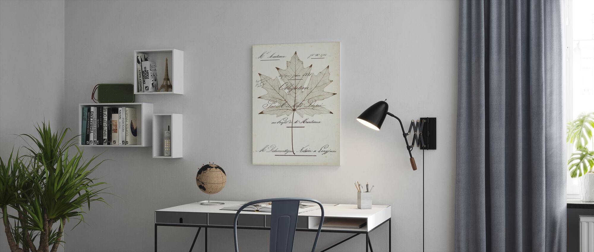 Maple Document - Canvas print - Office