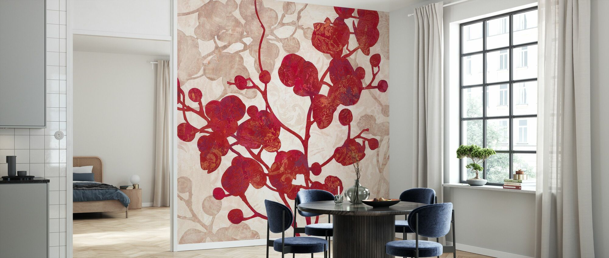 Luscious Orchid 2 - Wallpaper - Kitchen