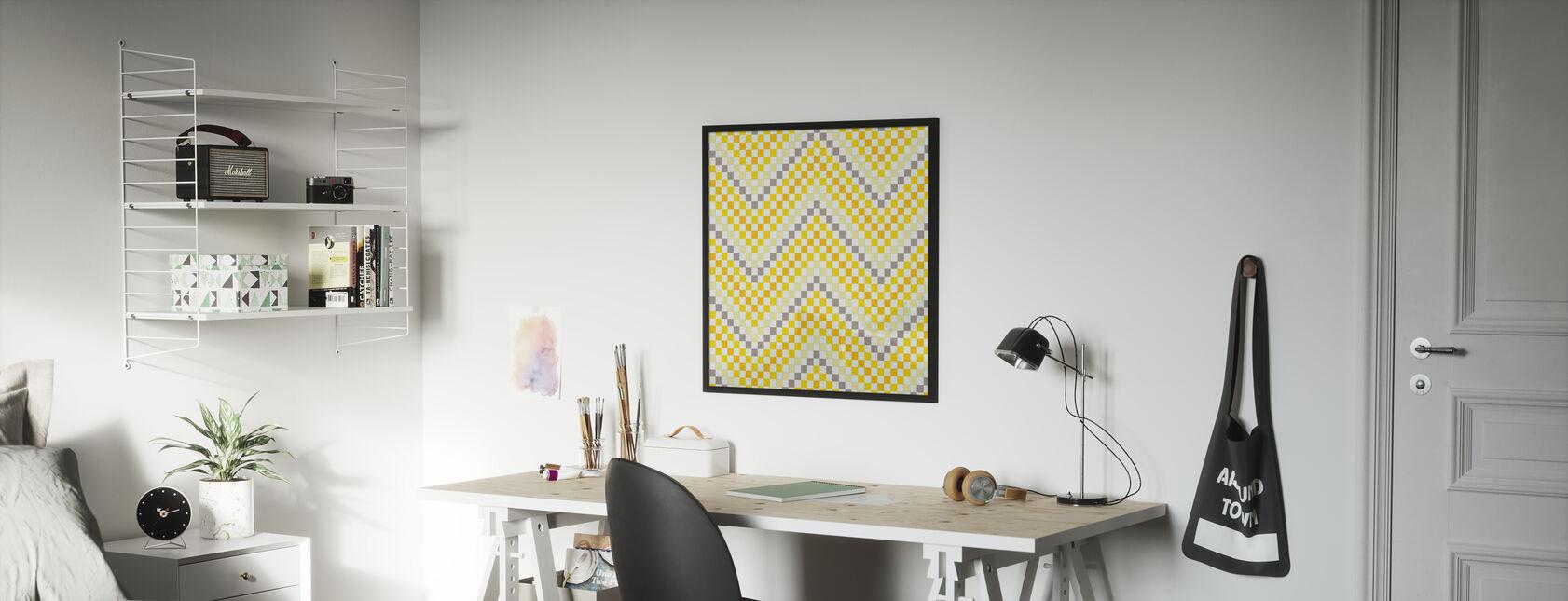 Går geometrisk 4 - Inramad tavla - Barnrum