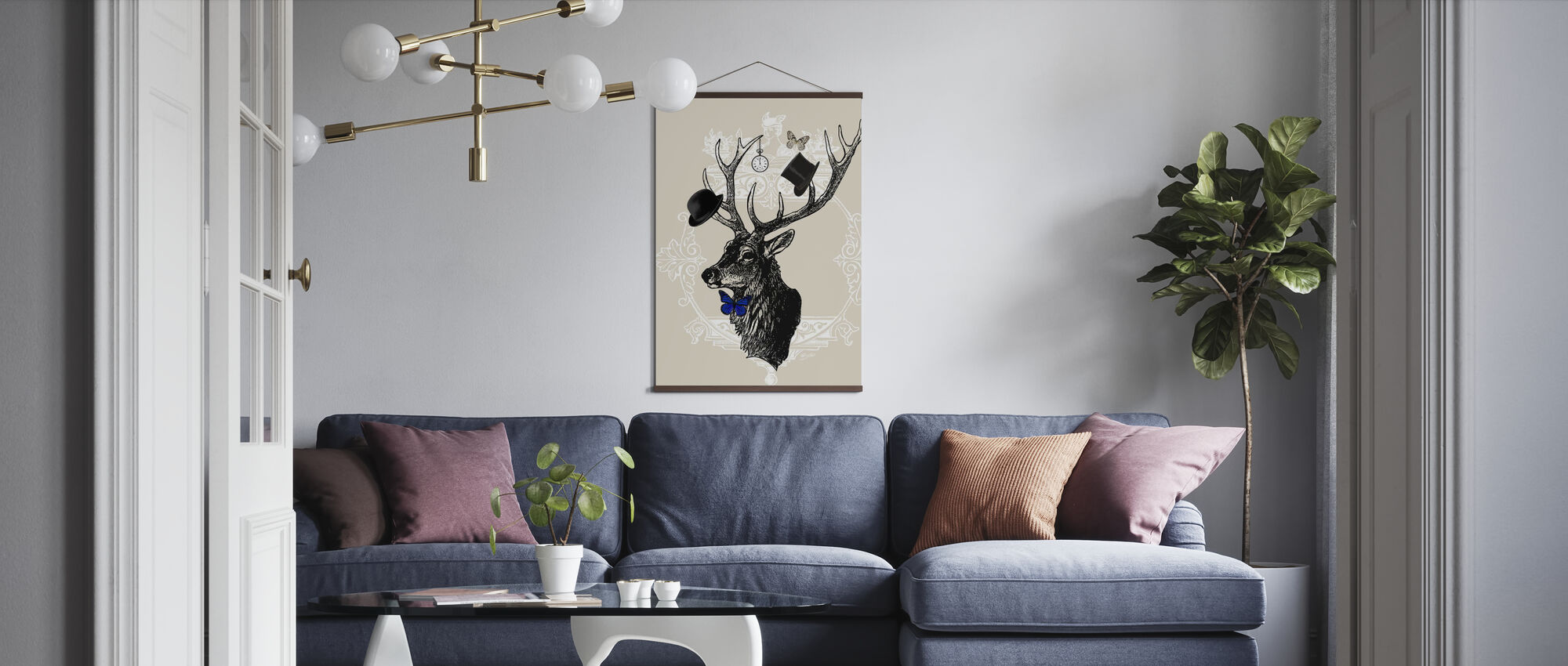 Gentleman Stag - Poster - Living Room