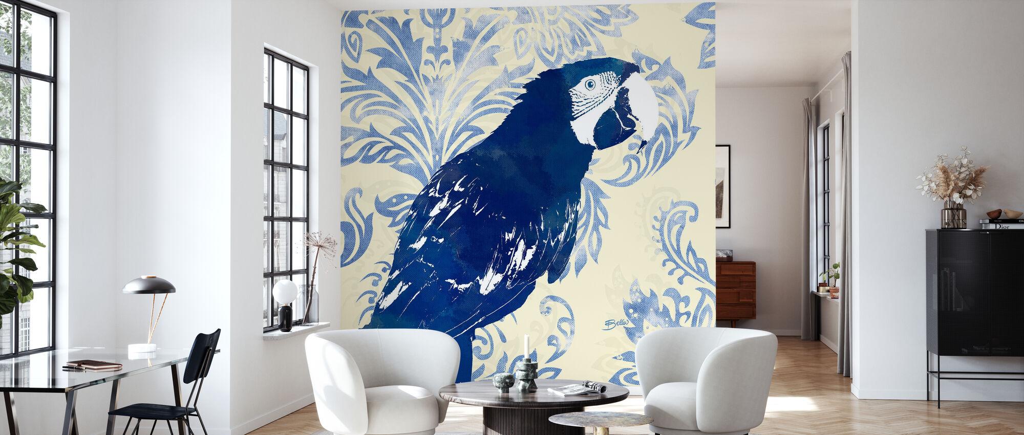 Indigo Parrot 1 - Wallpaper - Living Room