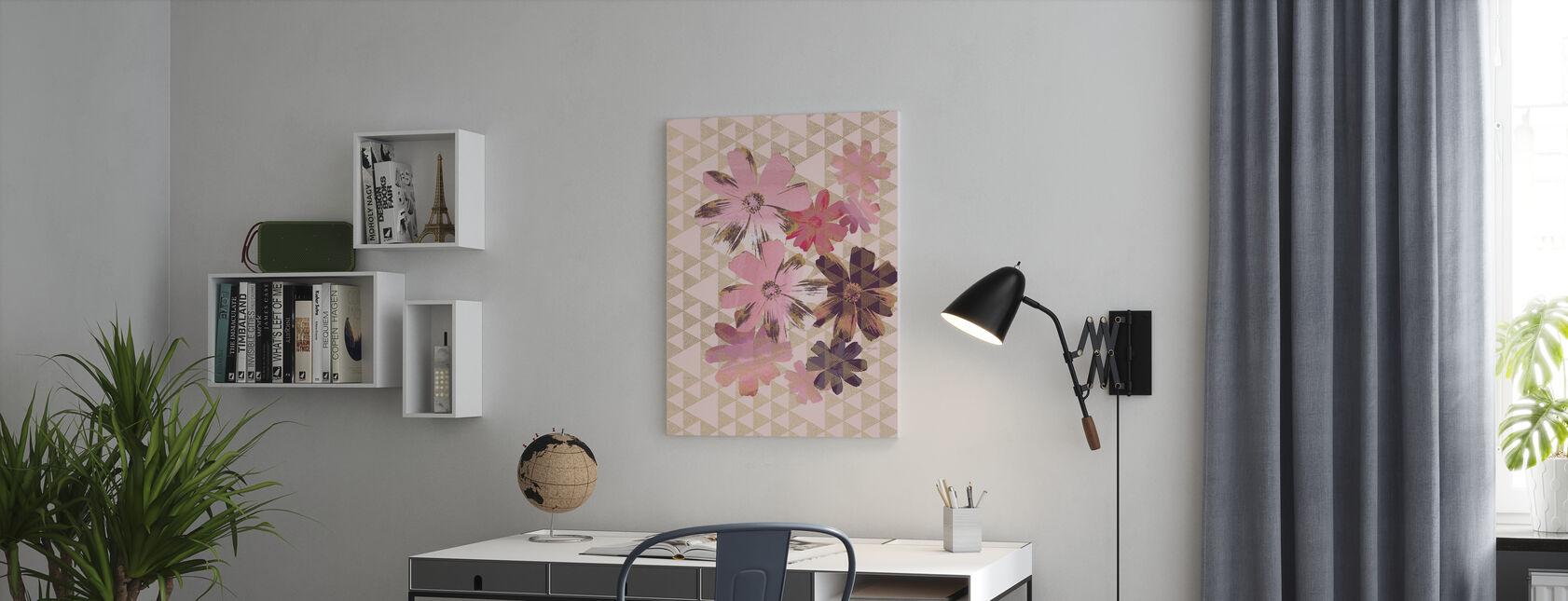 Kimono Tusindfryd 1 - Billede på lærred - Kontor