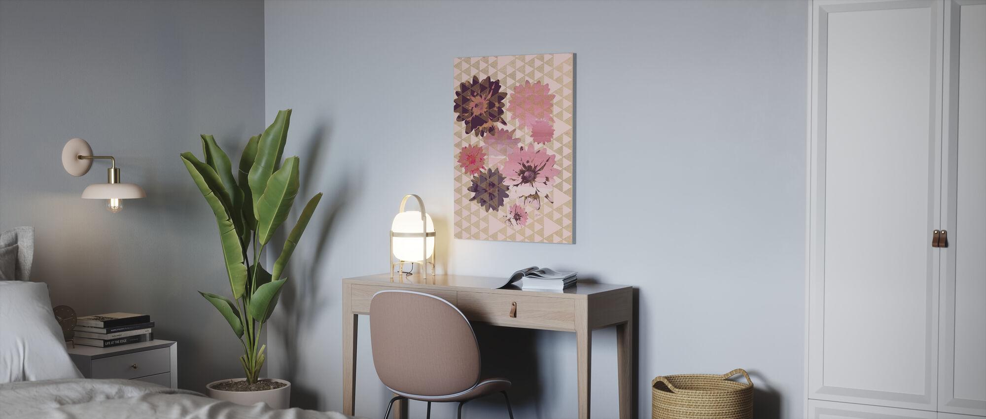 Kimono Daisies 2 - Canvas print - Office