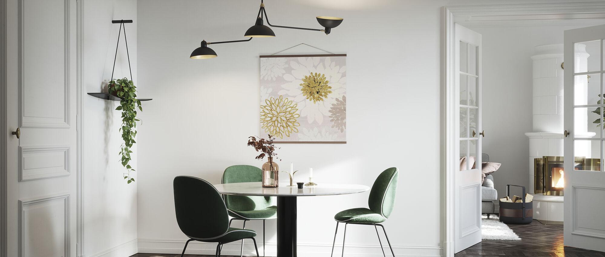 Vergoldete Ästhetische Blüte - Poster - Küchen
