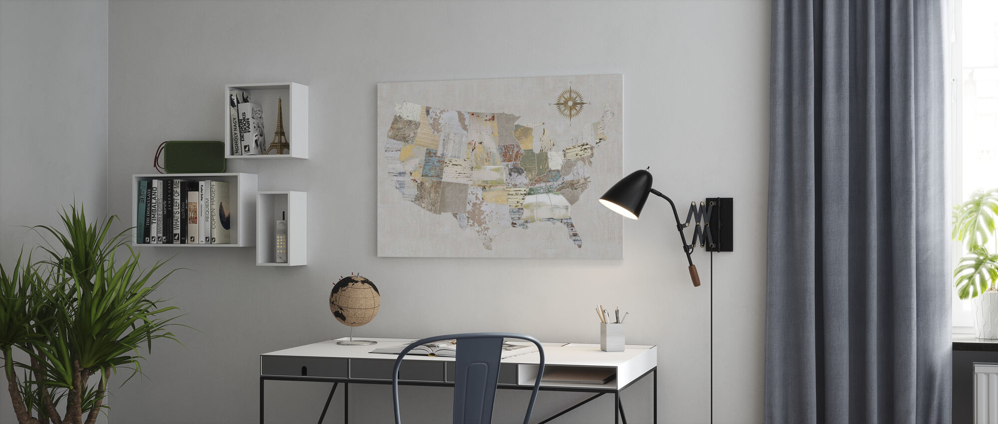Textures américaines - Impression sur toile - Bureau