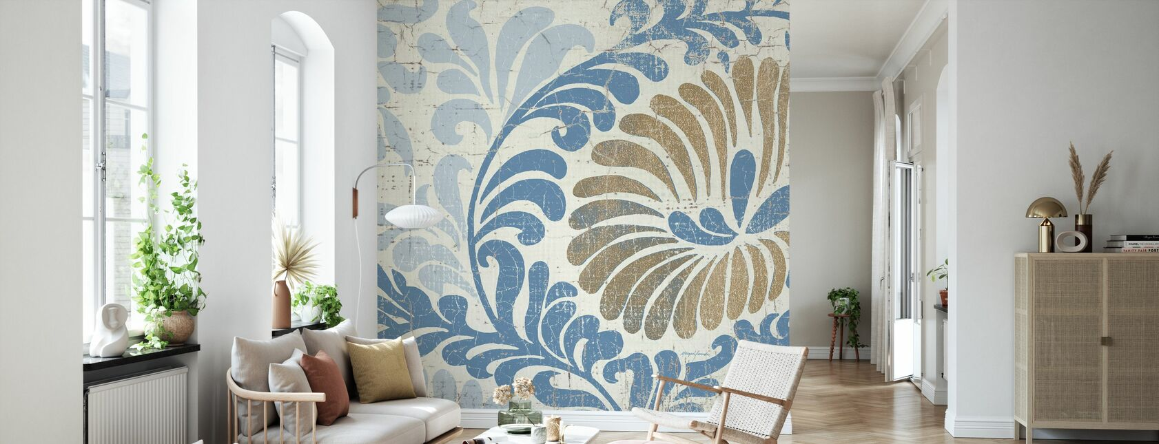 Blue Shanghai - Wallpaper - Living Room