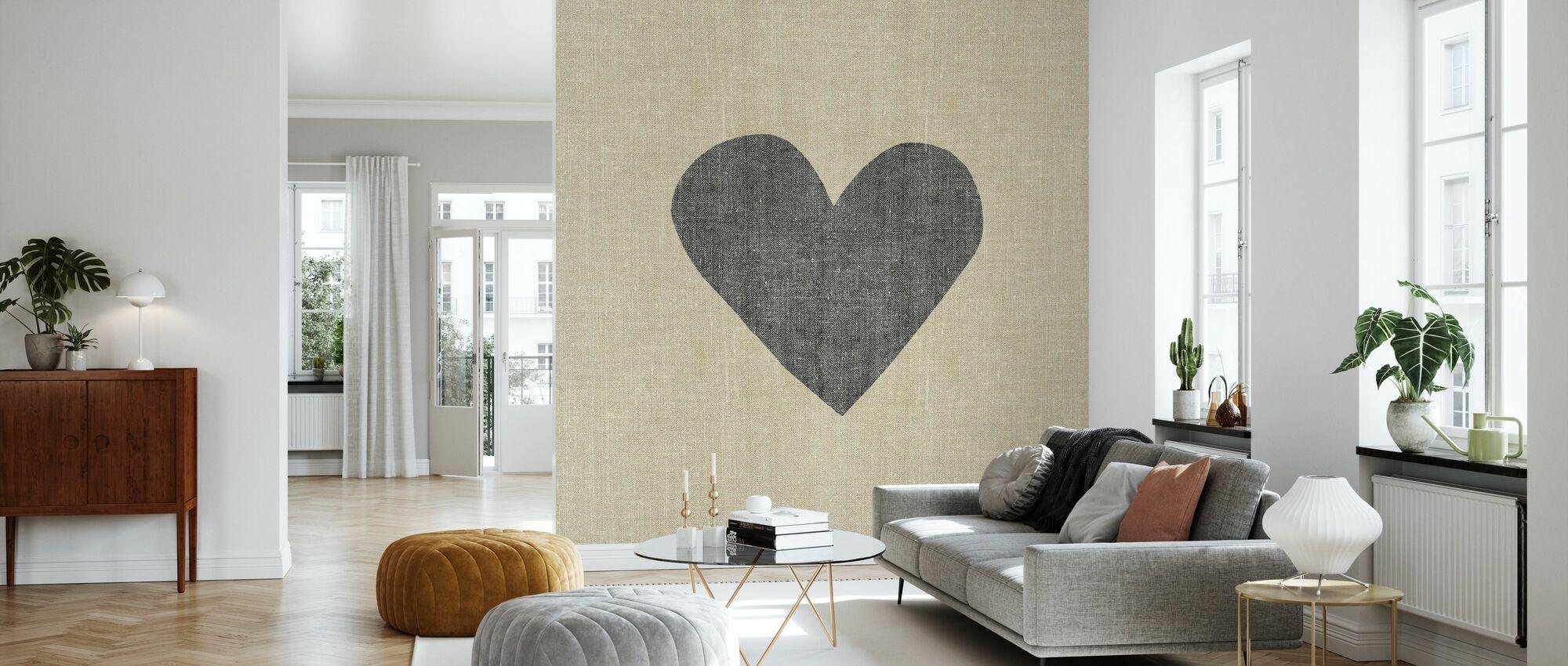 Simple Message Heart - Wallpaper - Living Room