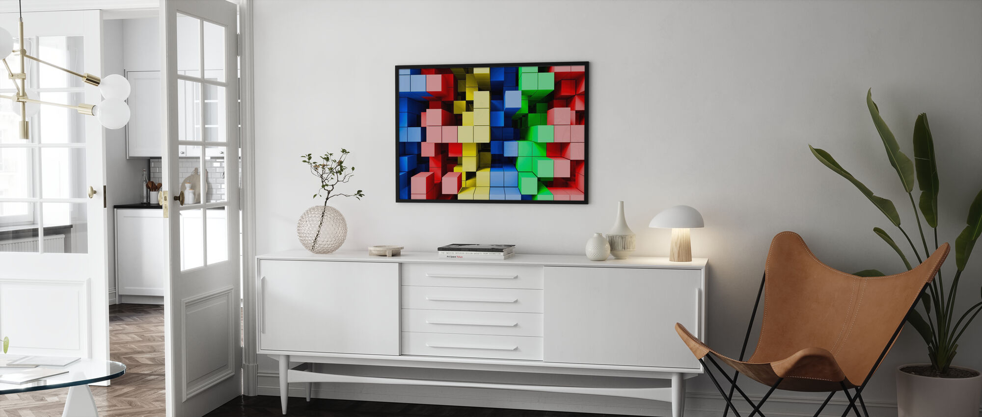 Deep Tetris Color - Framed print - Living Room