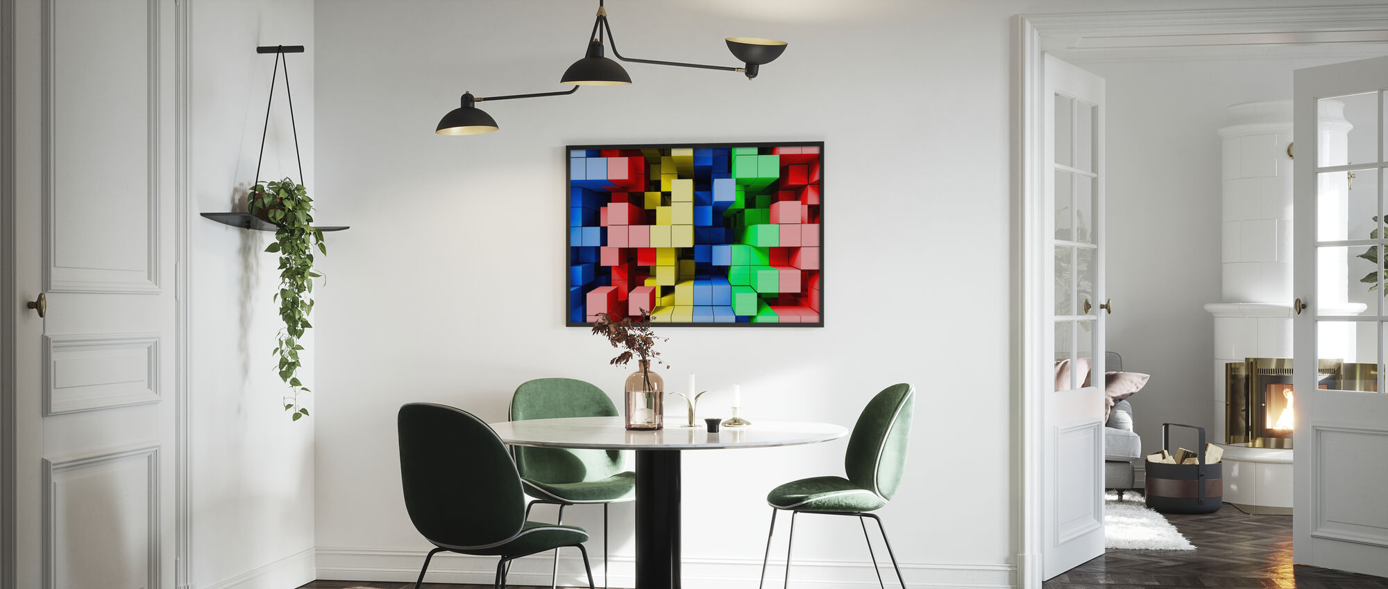 Djup Tetris färg - Poster - Kök
