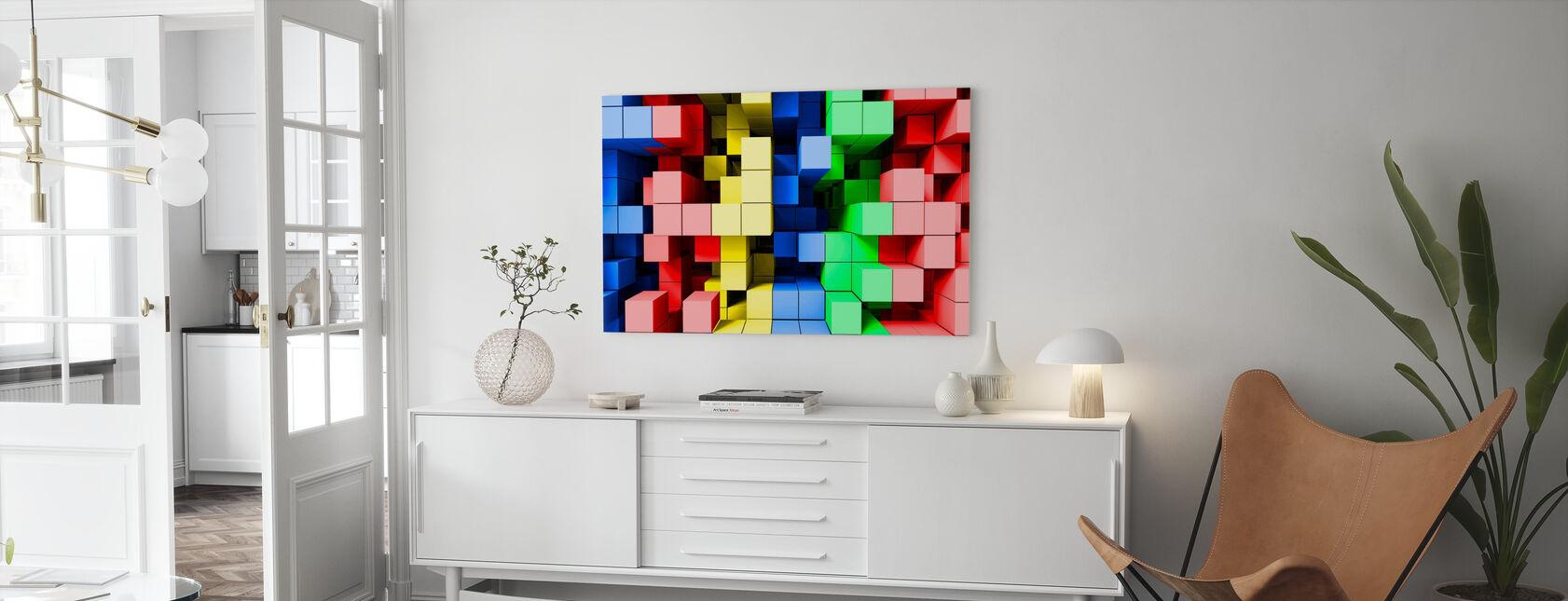 Diepe tetris kleur - Canvas print - Woonkamer