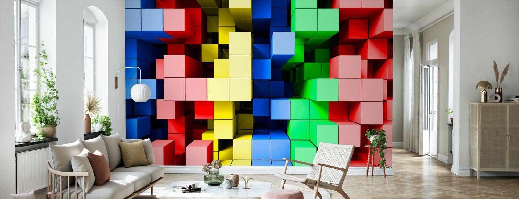Deep Tetris Color - Wallpaper - Living Room