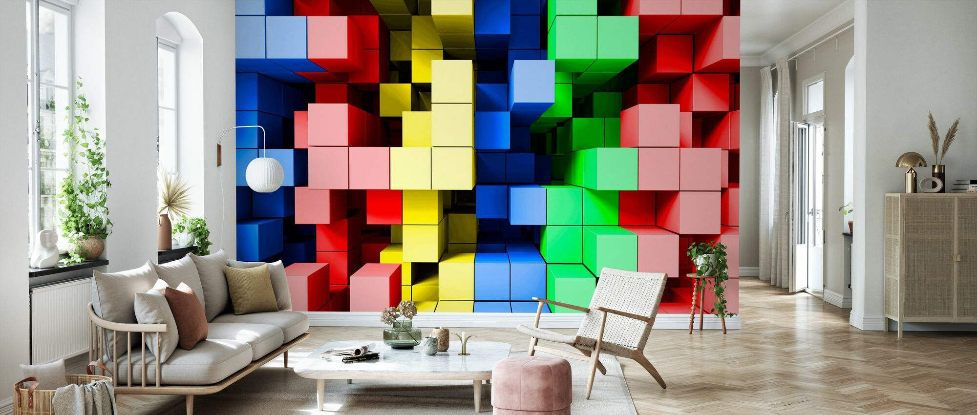 Deep Tetris Color - Wallpaper - Living Room