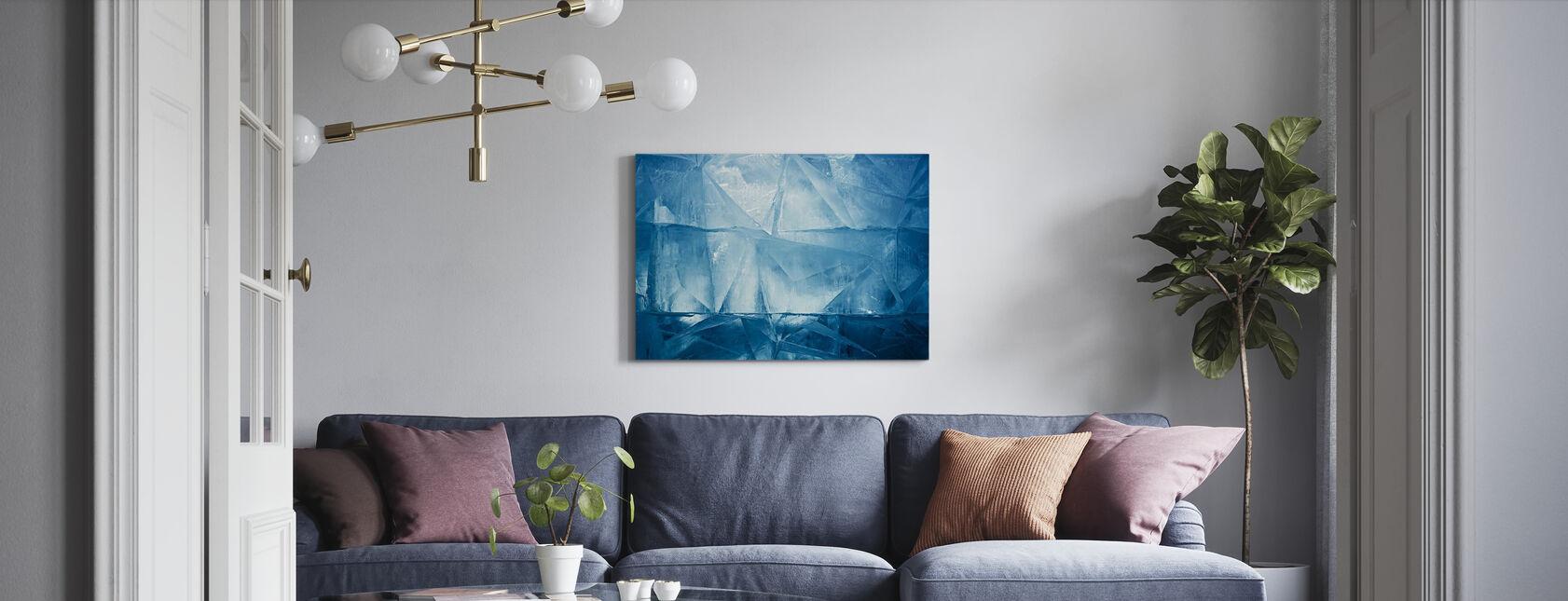 Niebieski Lód - Obraz na płótnie - Pokój dzienny