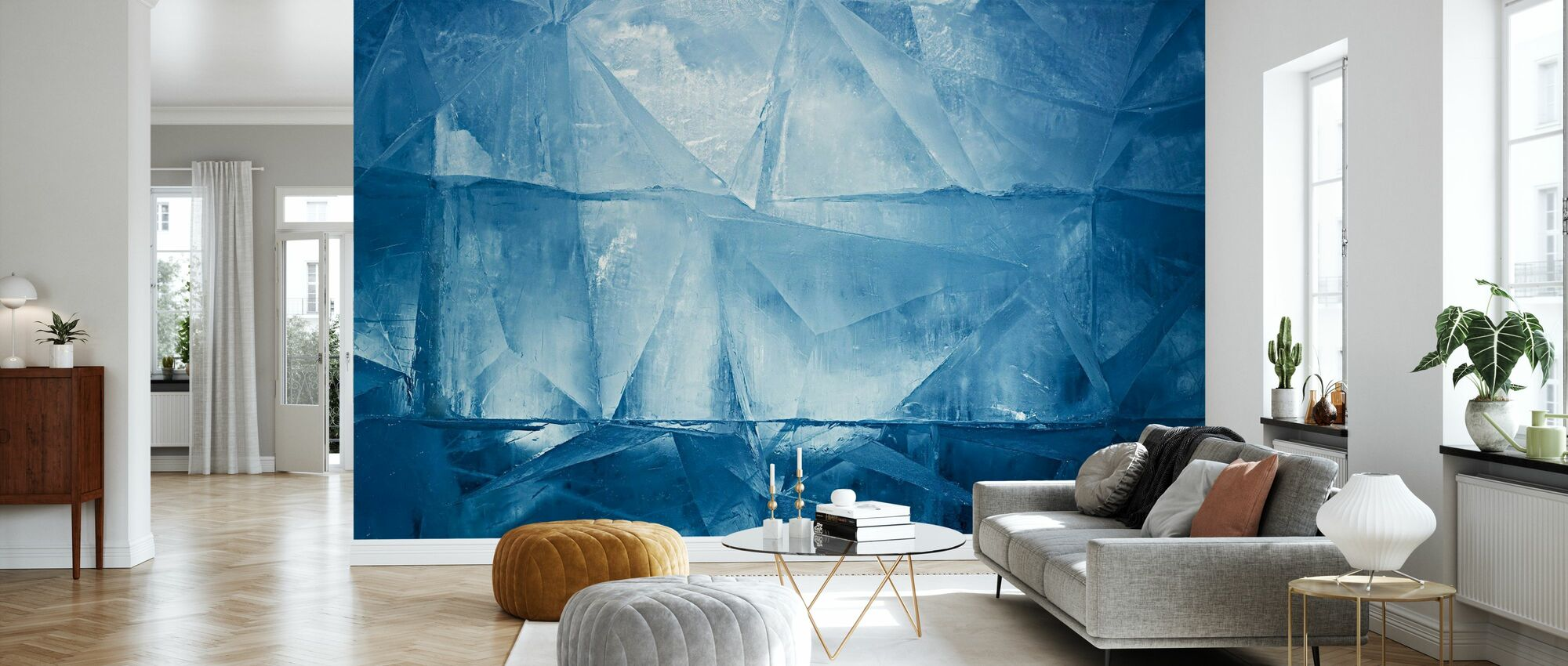 Blue Ice - Wallpaper - Living Room