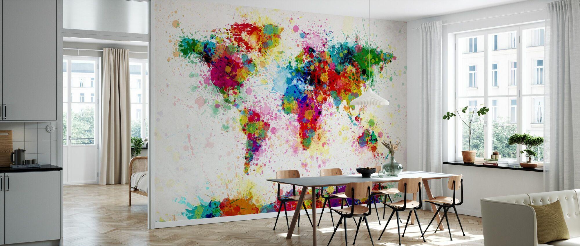 Paint Splashes Karte - Tapete - Küchen