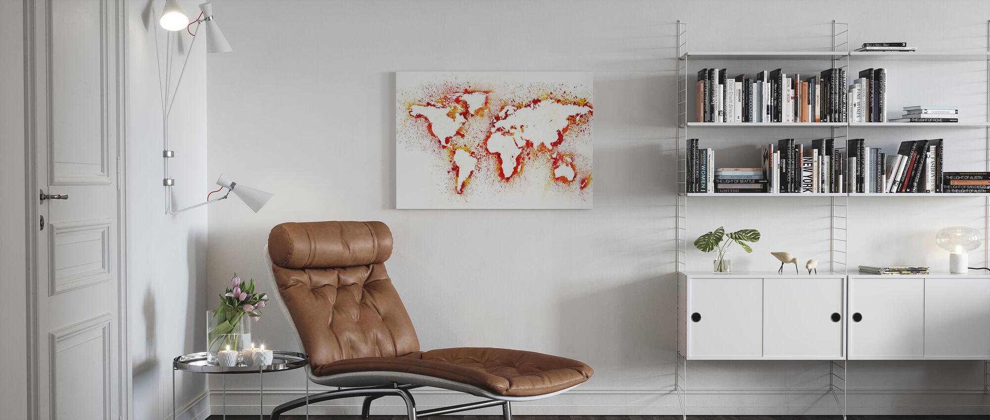 Abstrakte Weltkarte - Leinwandbild - Wohnzimmer