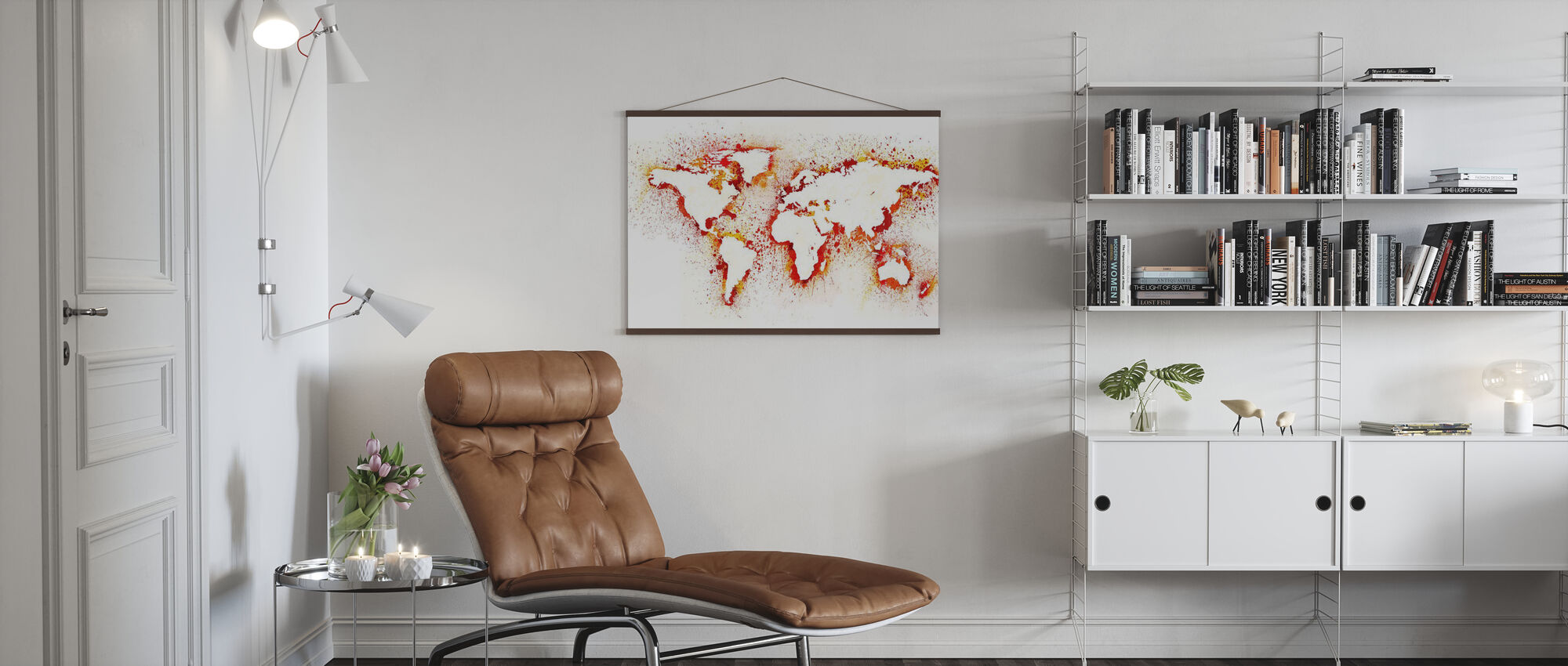 Abstract World Map - Poster - Living Room