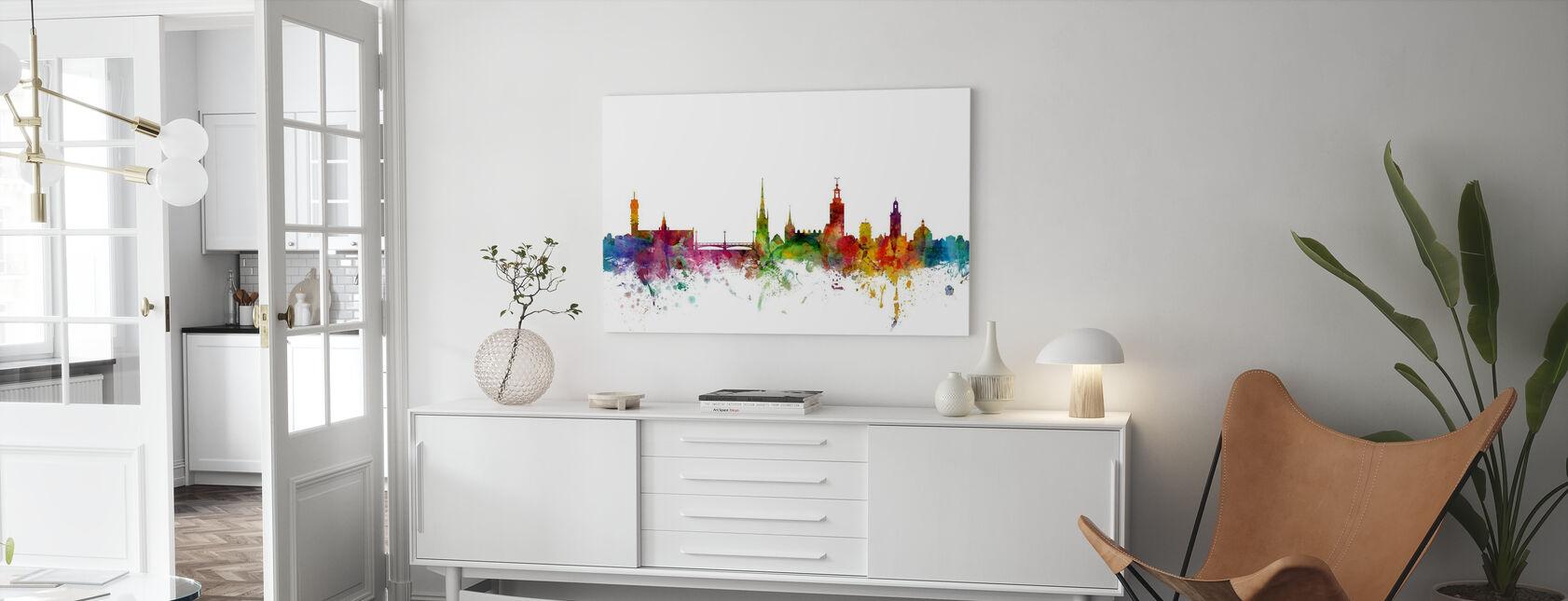 Stockholm Skyline - Canvastavla - Vardagsrum