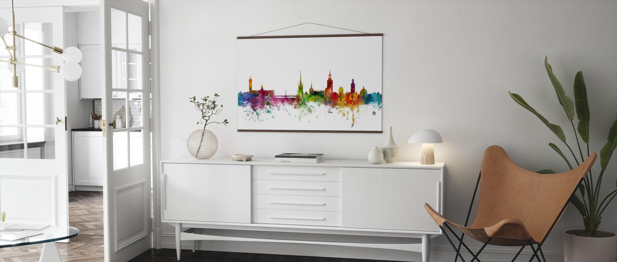 Skyline van Stockholm - Poster - Woonkamer