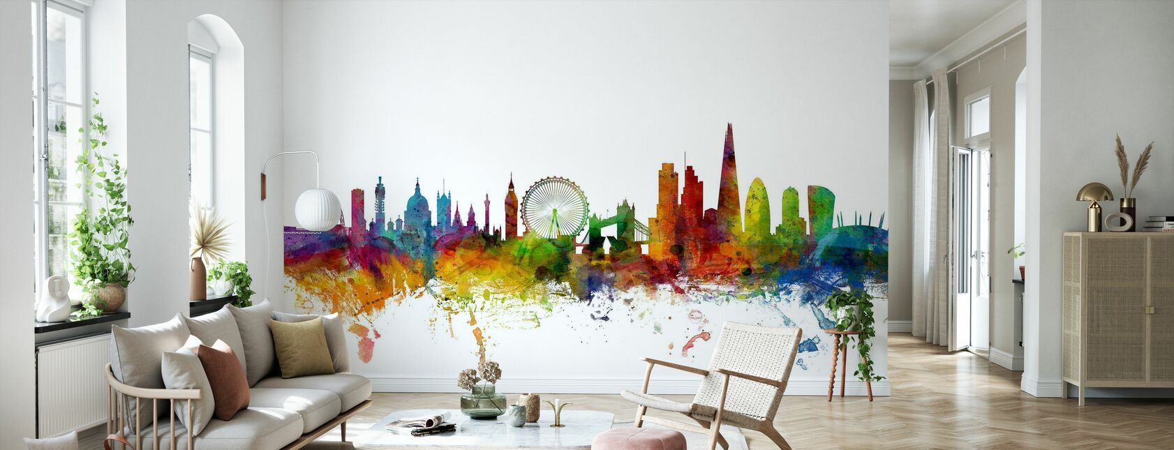 London Skyline 2 - Wallpaper - Living Room