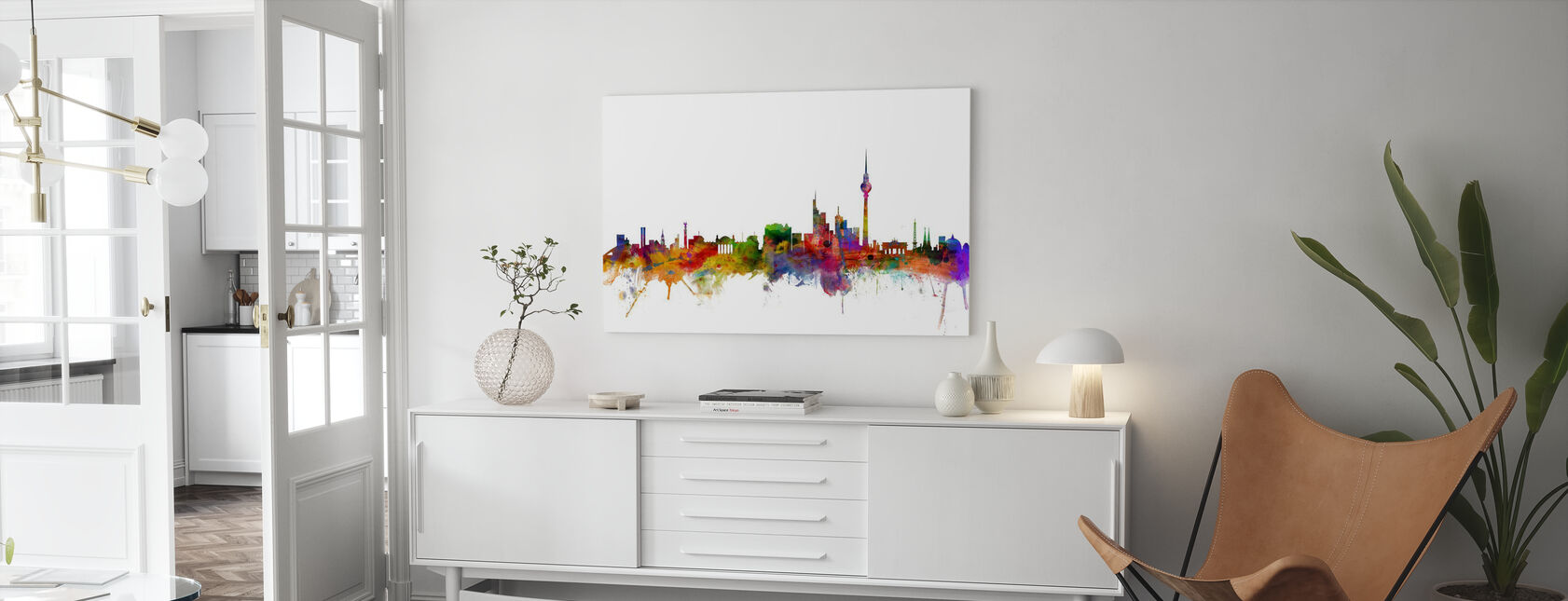 Berlin Skyline - Canvas print - Living Room
