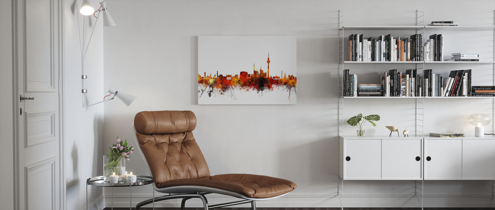 Berlin Skyline 2 - Canvas print - Living Room
