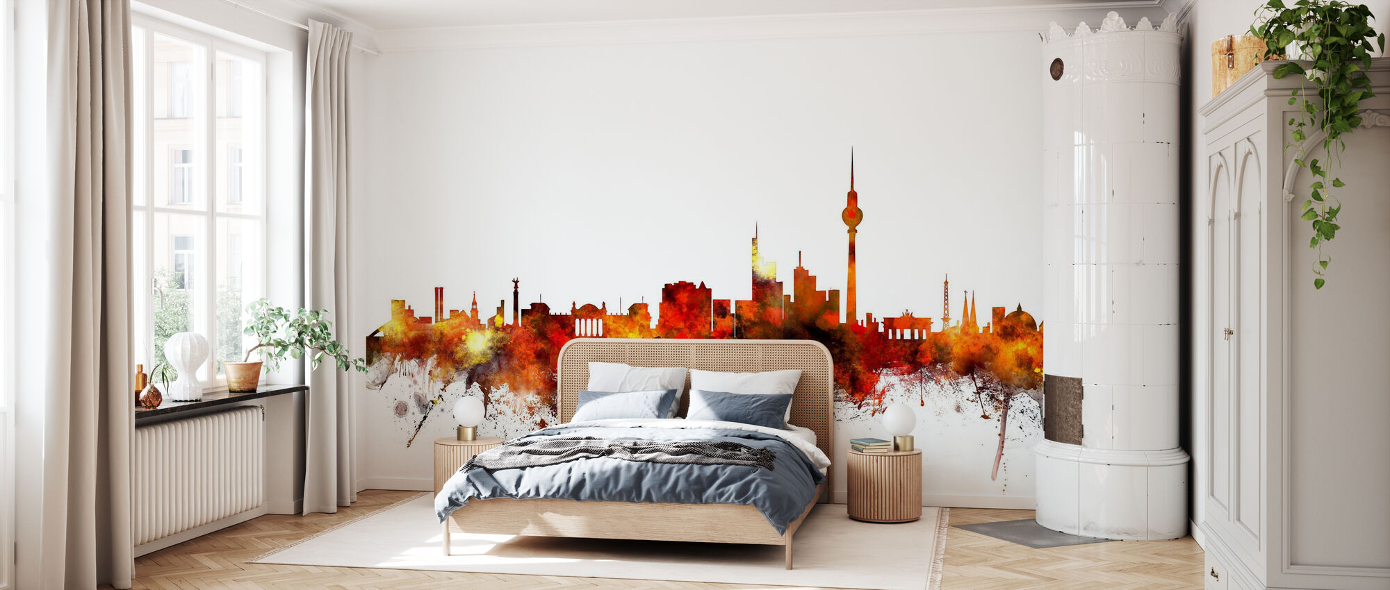 Berlin Skyline 2 - Wallpaper - Bedroom