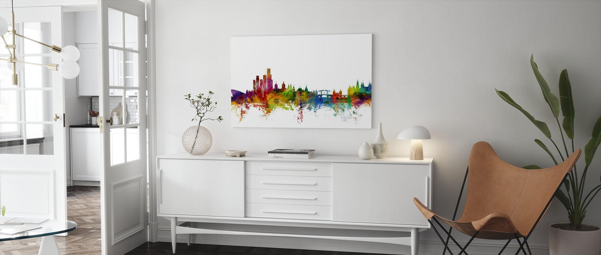 Amsterdam Skyline - Canvas print - Living Room
