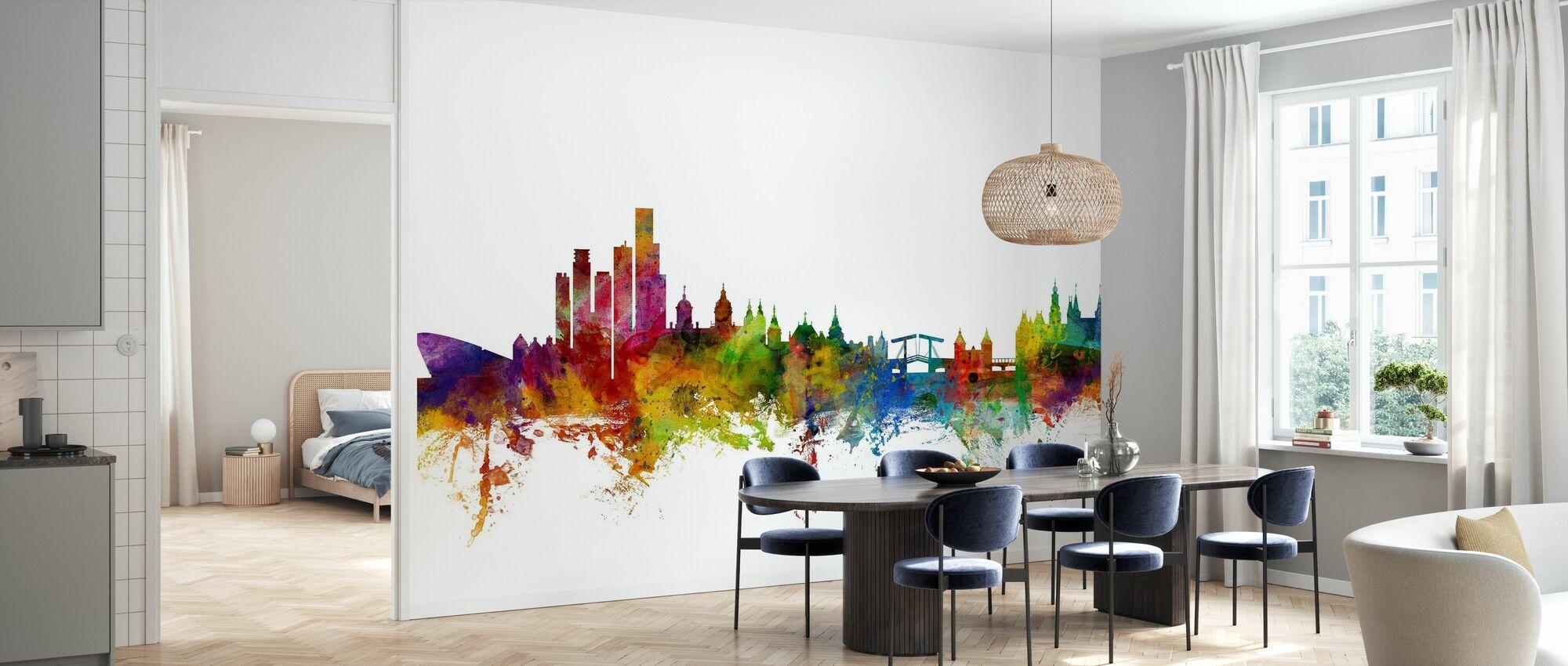 Amsterdam Skyline - Papel pintado - Cocina