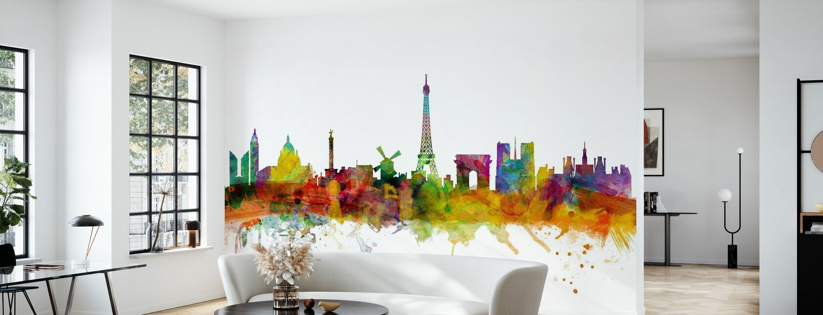 Paris Skyline - Wallpaper - Living Room