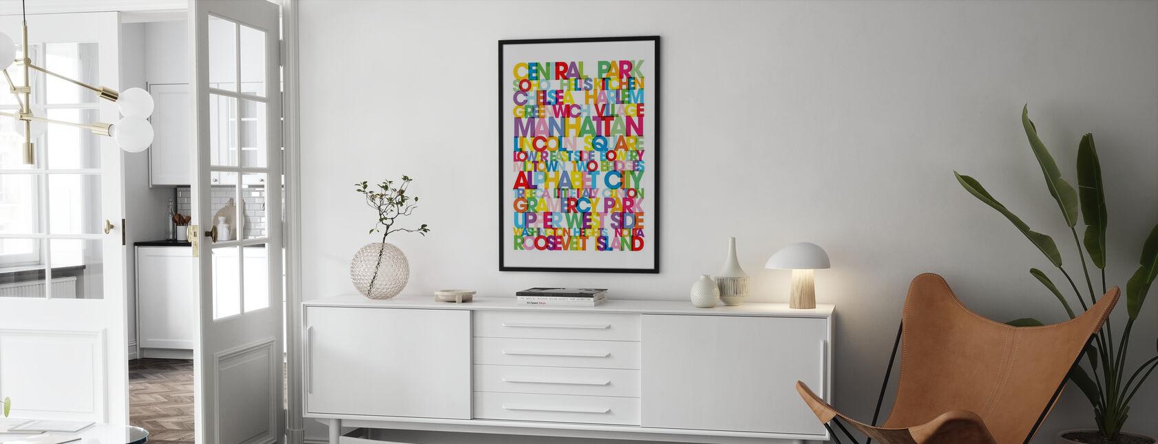 Manhattan Boroughs Bus Blind - Poster - Living Room