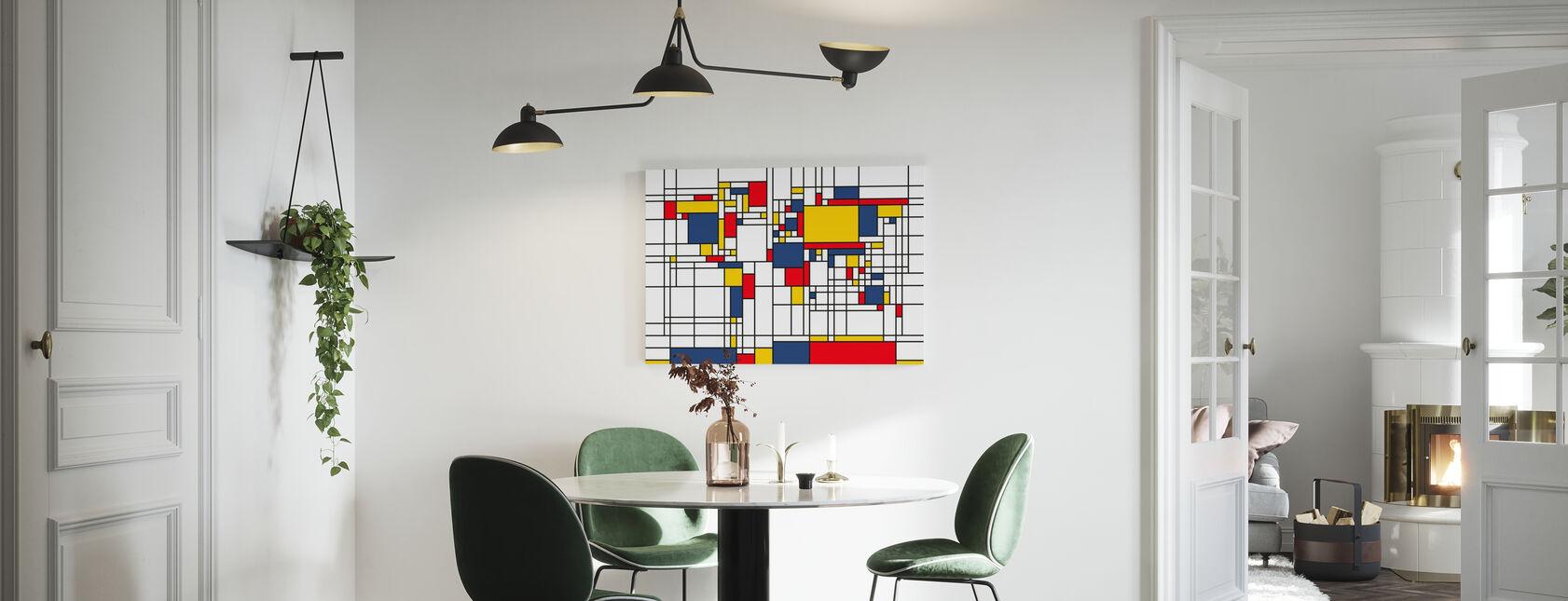 Piet Mondrian Style World Map - Canvas print - Kitchen
