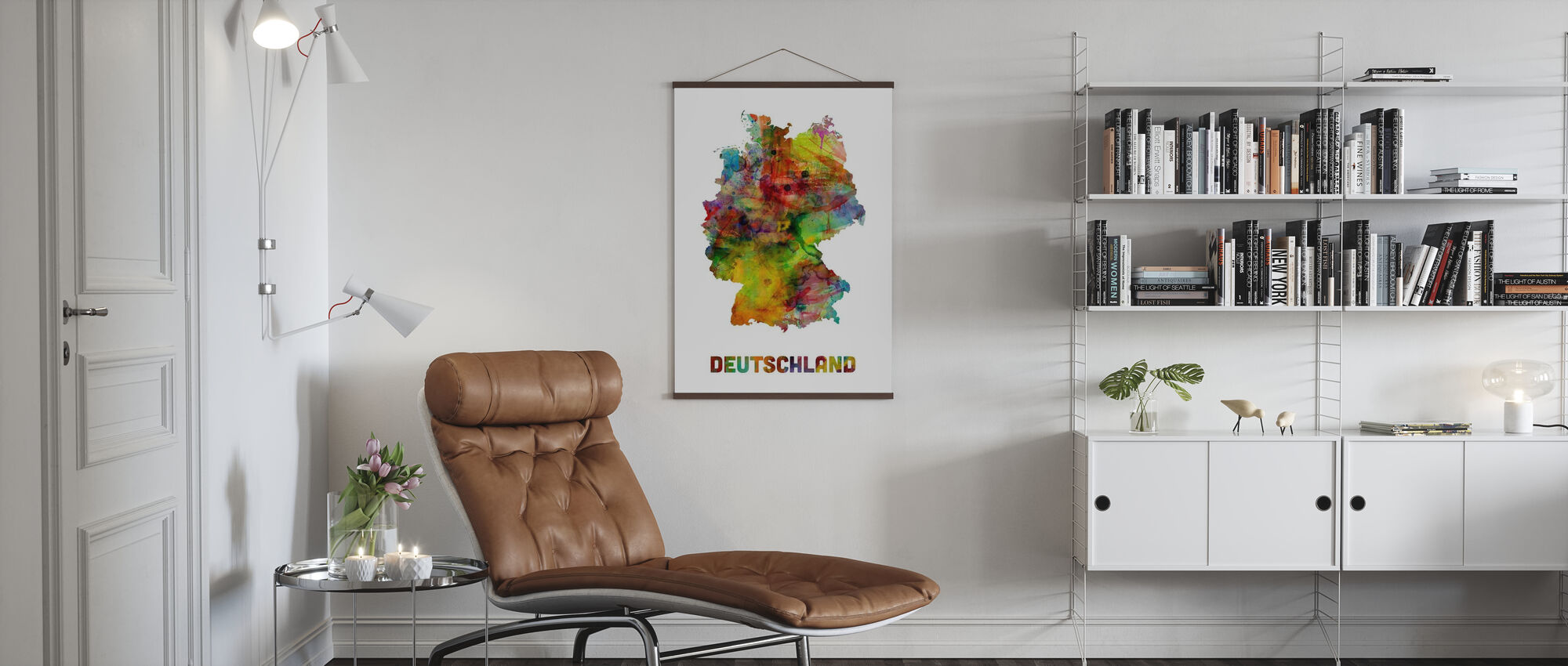 Germany Watercolor Map - Poster - Living Room