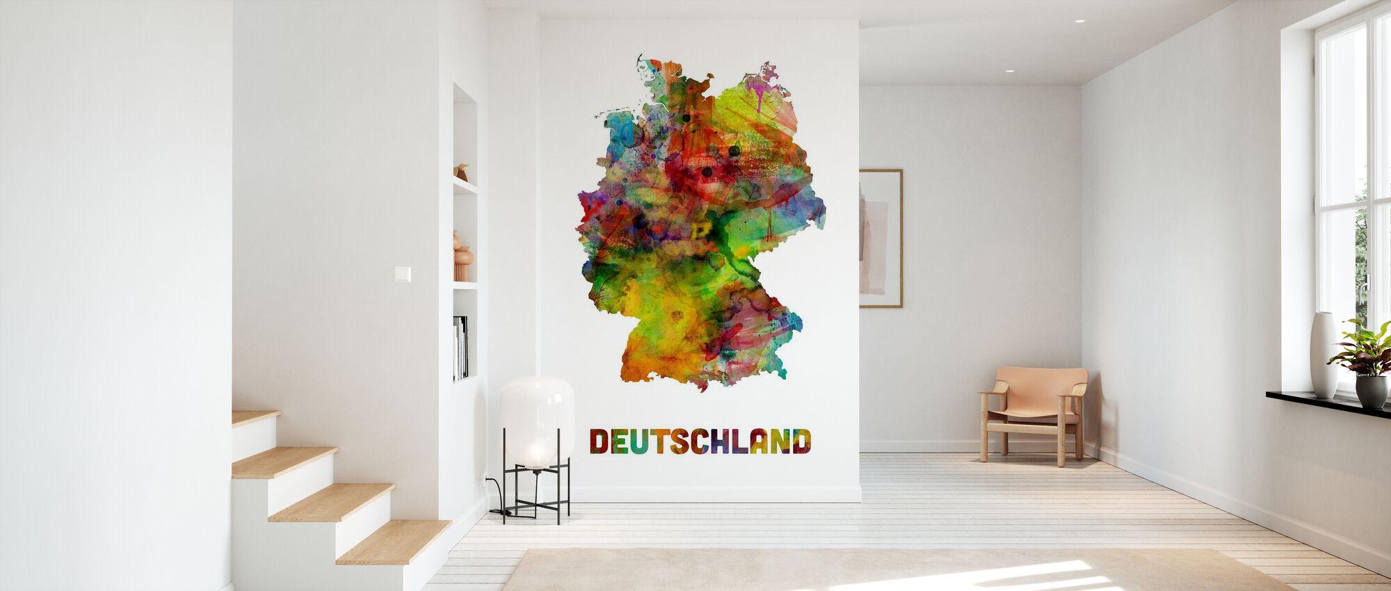 Mapa de acuarela Alemania - Papel pintado - Corredor