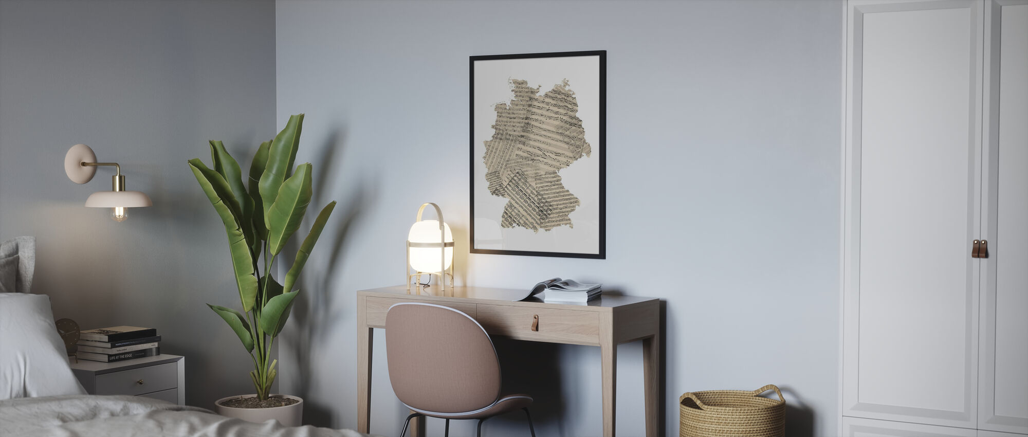 Allemagne Old Music Sheet Map - Affiche - Chambre