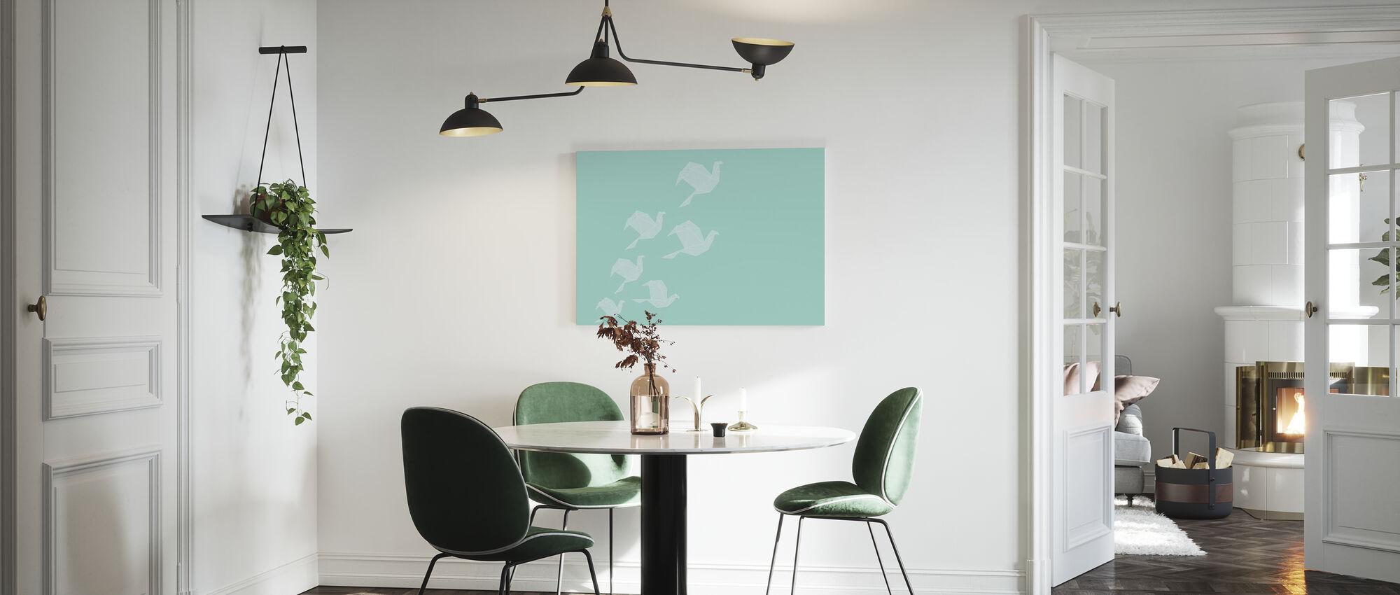 Origami Turquoise - Canvas print - Kitchen