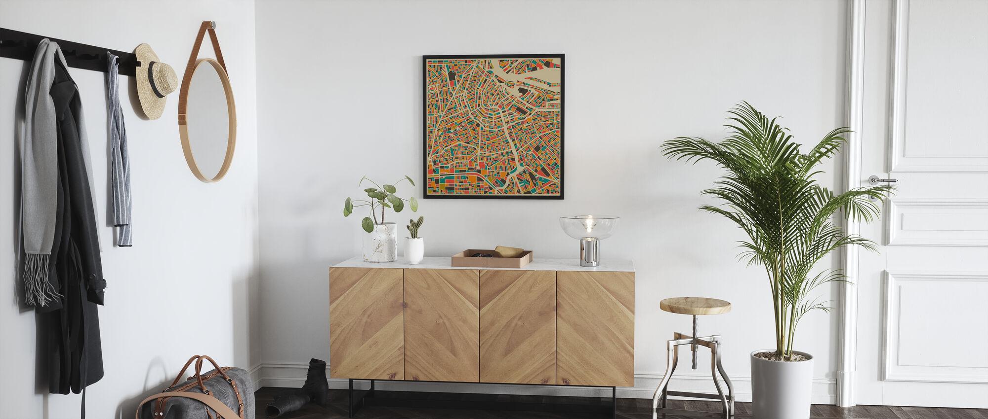 Multicolor Map - Amsterdam - Poster - Hallway