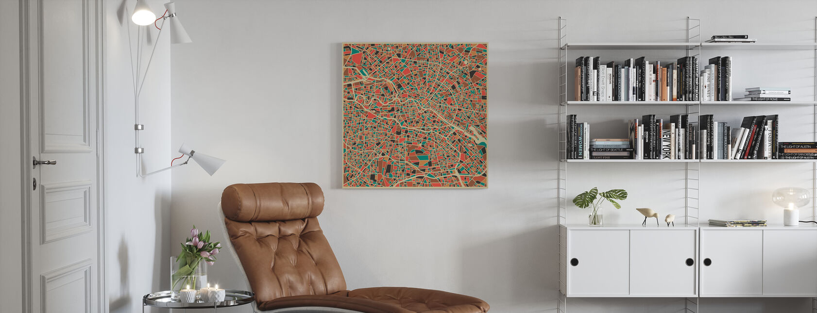 Multicolor Map - Berlin - Canvas print - Living Room