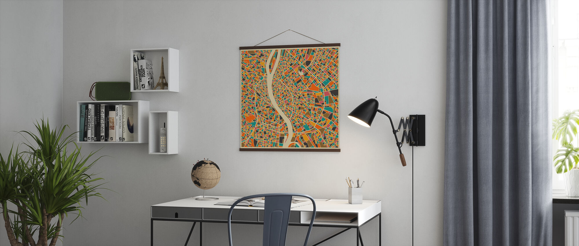 Multicolor Map - Budapest - Poster - Office