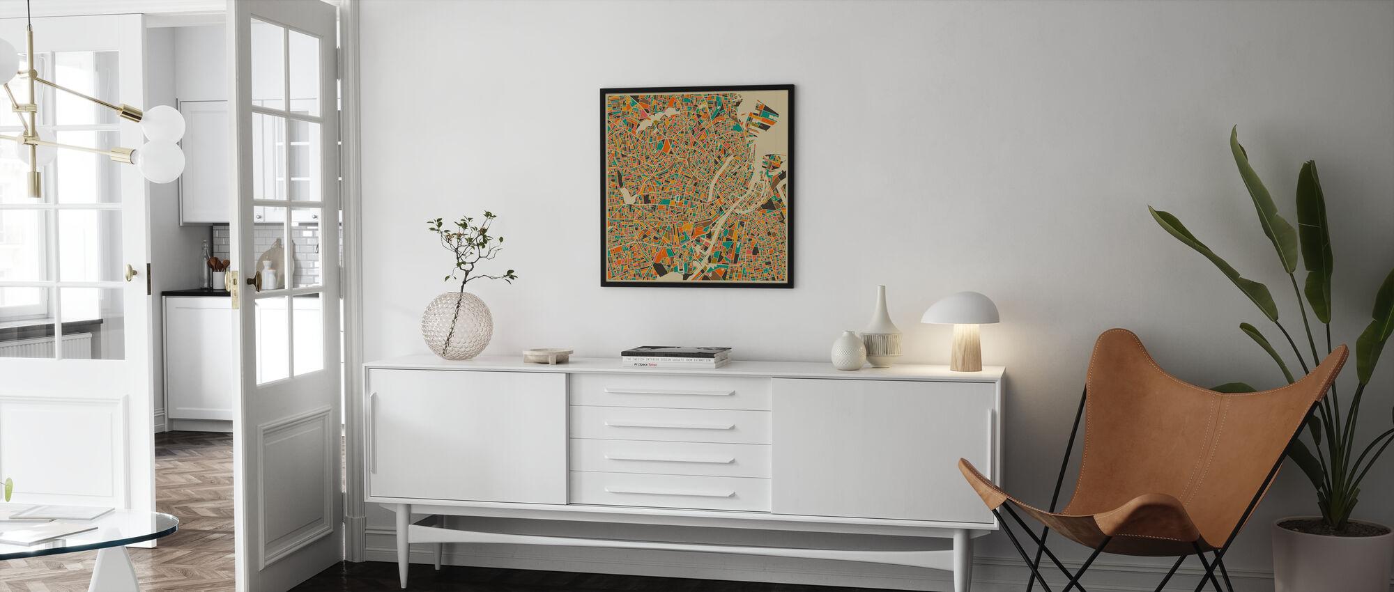 Carte multicolore - Copenhague - Affiche - Salle à manger
