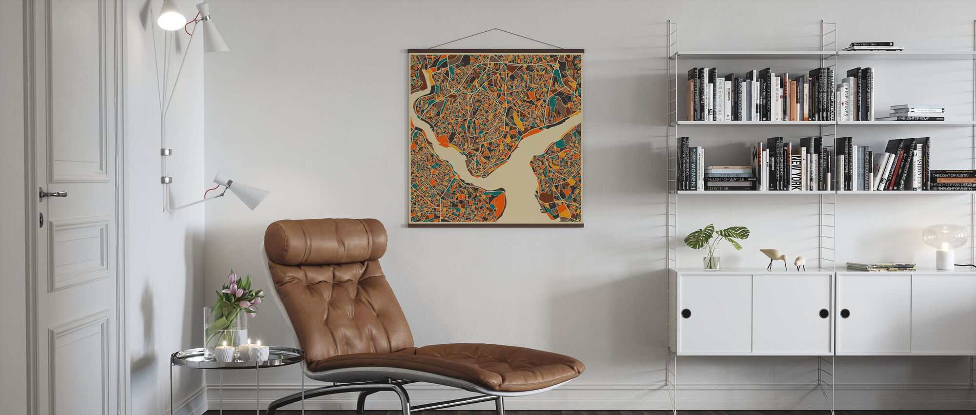 Multicolor Map - Istanbul - Poster - Living Room