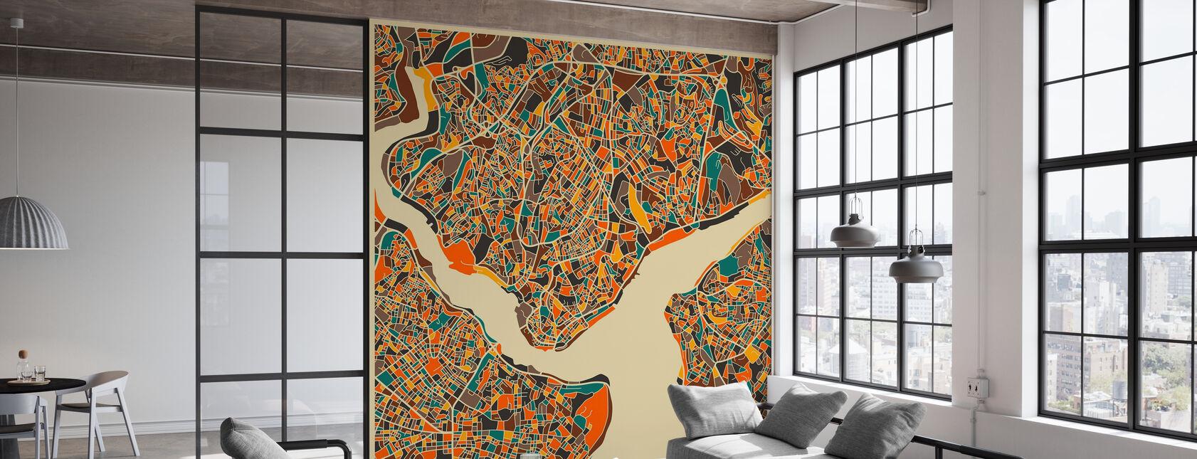 Mapa Multicolor - Estambul - Papel pintado - Oficina