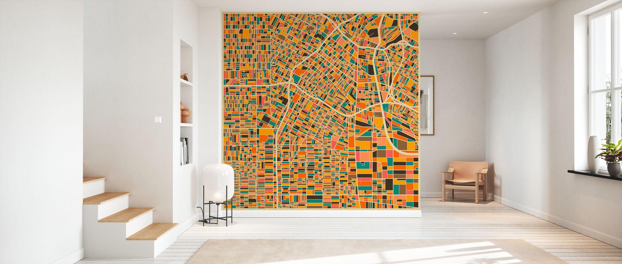 Multicolor Kartta - Los Angeles - Tapetti - Aula