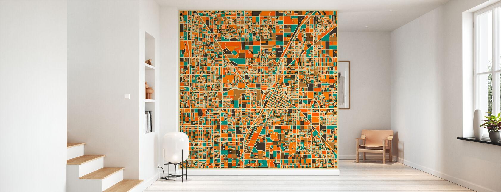 Multicolor Map - Las Vegas - Tapetti - Aula