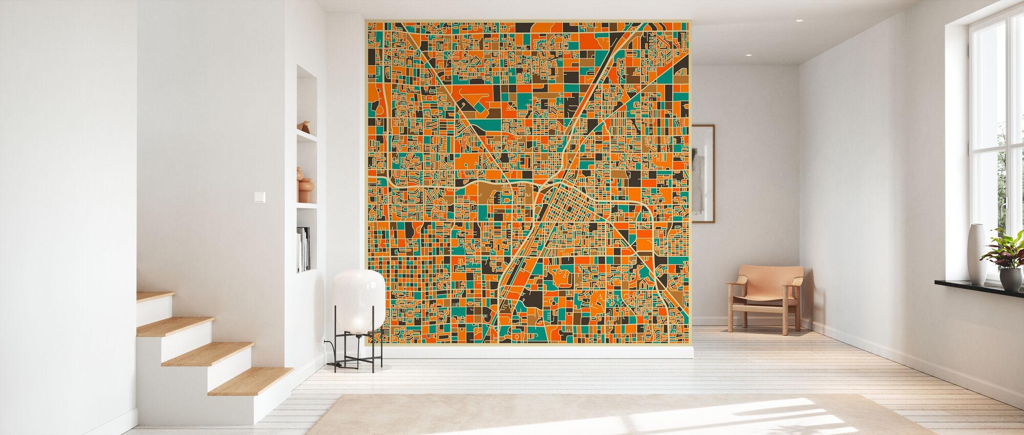 Multicolor Map - Las Vegas - Wallpaper - Hallway