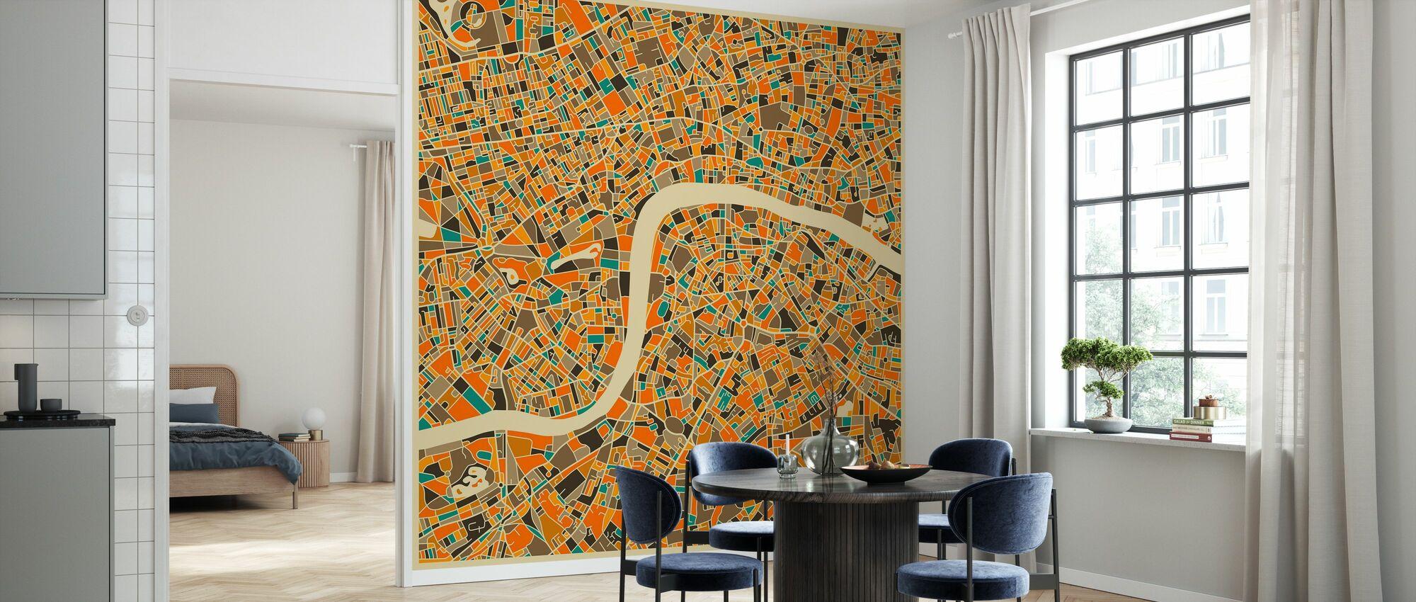 Multicolor Kartta - Lontoo - Tapetti - Keittiö