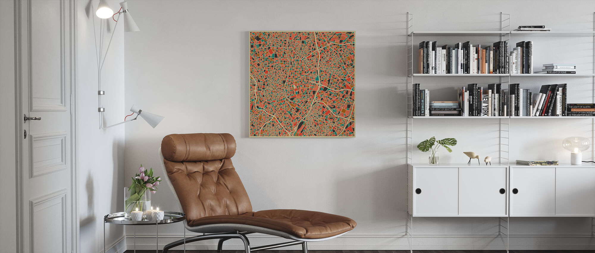 Multicolor Map - Madrid - Canvas print - Living Room