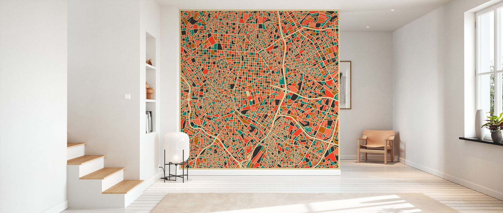 Multicolor Map - Madrid - Tapetti - Aula